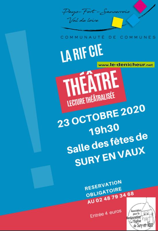 """j23 - DIM 23 octobre - SURY EN VAUX - Lecture théâtralisée """"Annulé""""*/ 10-23_12"""