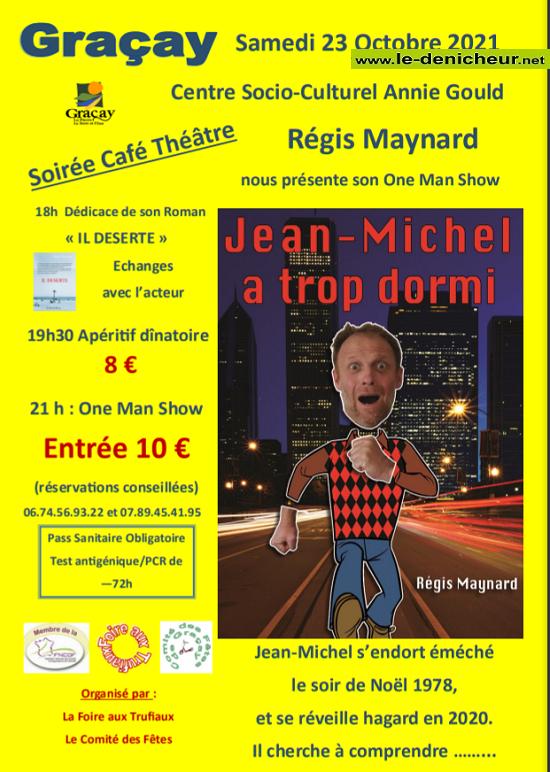 v23 - SAM 23 octobre - GRACAY - Soirée Café Théâtre avec Régis Maynard */ 10-23_13