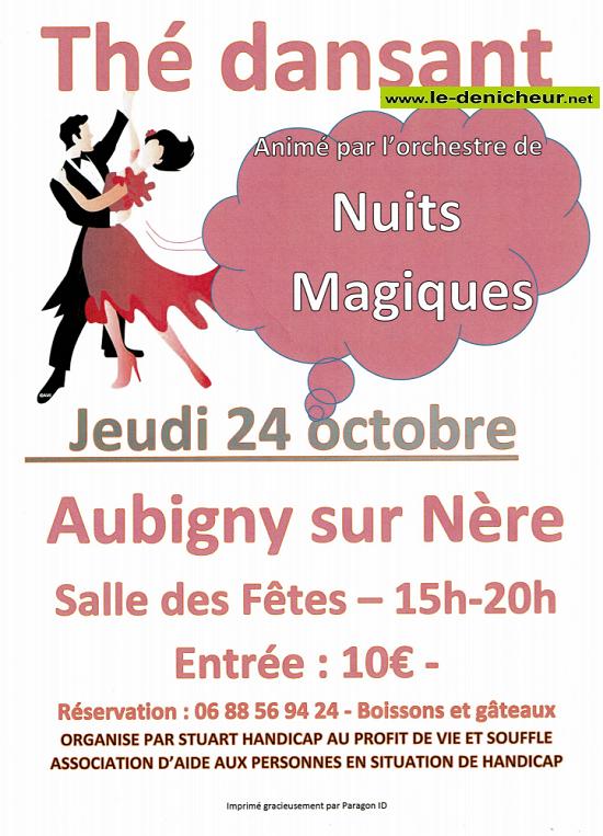 v24 - JEU 24 coctobre - AUBIGNY /Nère - Thé dansant avec Nuit Magique */ 10-24_12