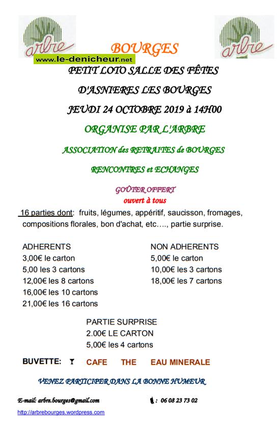v24 - JEU 24 octobre - BOURGES - Loto de l'ARBRE */ 10-24_13