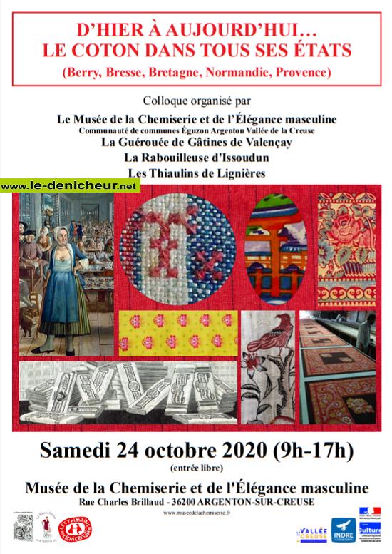 """j24 - SAM 24 octobre - ARGENTON /Creuse - Colloque """"Le coton dans tous ses états"""" 10-24_17"""