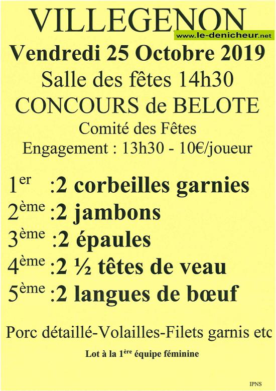 v25 - VEN 25 octobre - VILLEGENON - Concours de belote */ 10-25_10