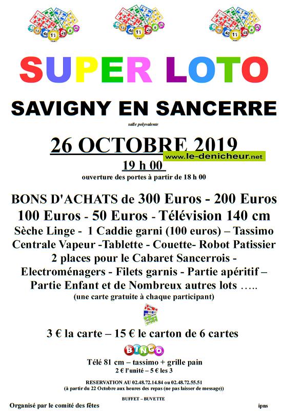 v26 - SAM 26 octobre - SAVIGNY en SANCERRE - Loto du comité des fêtes .*/ 10-26_13