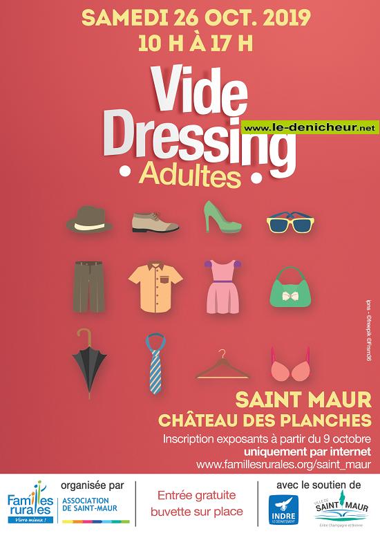 v26 - SAM 26 octobre - ST-MAUR - Vide dressing * 10-26_17