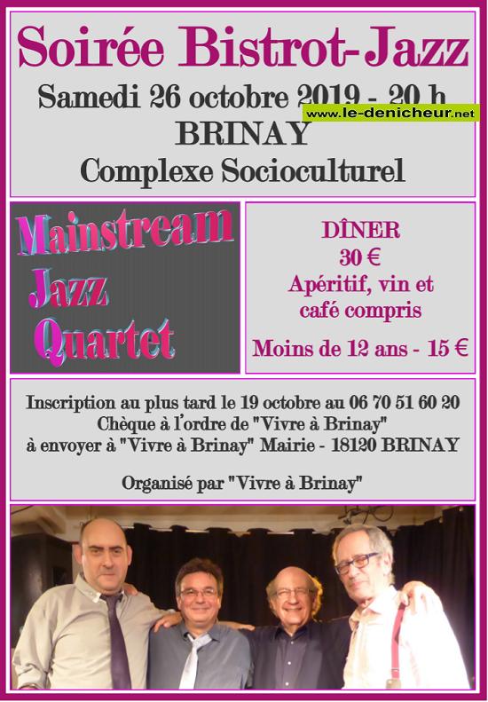 V26 – SAM 26 octobre – BRINAY – Soirée Bistrot Jazz*/ 10-26_18