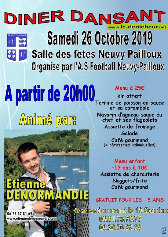v26 - SAM 26 octobre - NEUVY-PAILLOUX - Dîner dansnat avec Etienne Denormandie */ 10-26_25