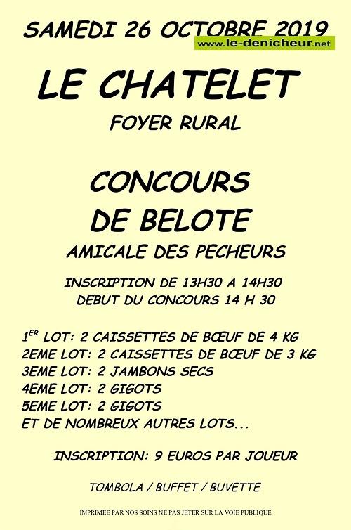v26 - SAM 26 octobre - LE CHATELET - Concours de belote */ 10-26_29
