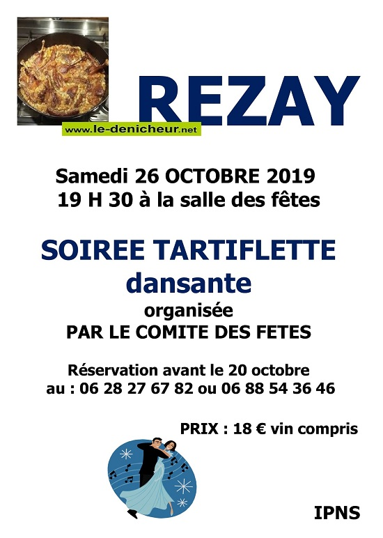 v26 - SAM 26 octobre - REZAY - Soirée tartiflette dansante .*/ 10-26_31