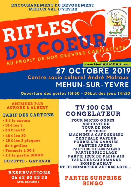 v27 - DIM 27 octobre - MEHUN /Yèvre - Rifles du coeur */ 10-27_14