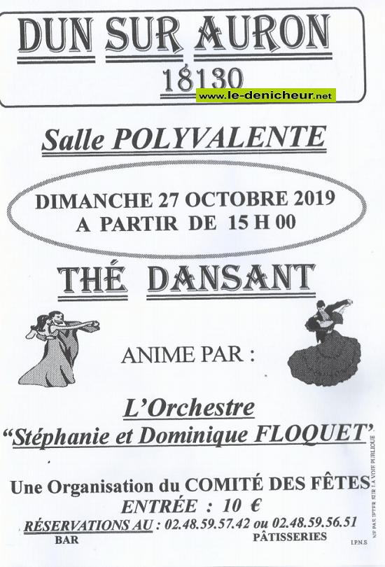 v27 - DIM 27 octobre - DUN /Auron - Thé dansant avec S. & D. Floquet */ 10-27_19