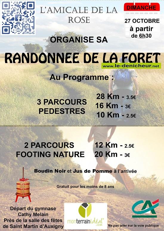 v27 - DIM 27 octobre - ST-MARTIN D'AUXIGNY - Randonnée pédestre et parcours footing  * 10-27_43