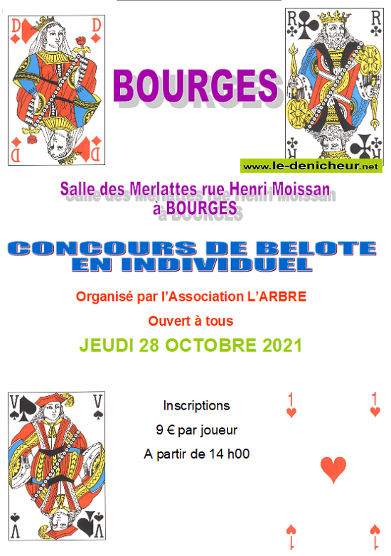 v28 - JEU 28 octobre - BOURGES - Concours de belote */ 10-28_20