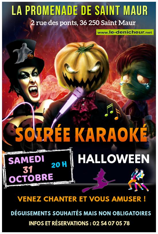 j31 - SAM 31 octobre - ST-MAUR - Soirée Karaoké Halloween */ 10-31_15