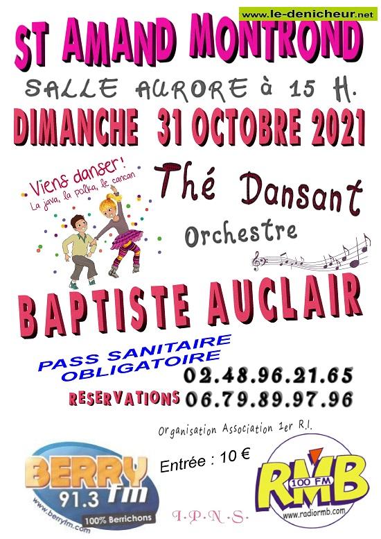 v31 - DIM 31 octobre - ST-AMAND-MONTROND - Thé dansant avec Baptiste Auclair 10-31_24