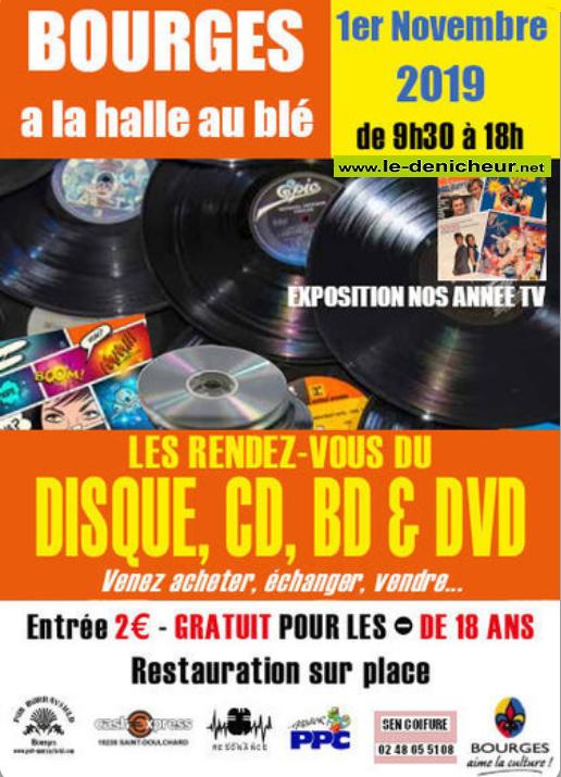 w01 - VEN 01 novembre - BOURGES - Les Rendez-Vous du Disque, CD, BD & DVD 11-01_15
