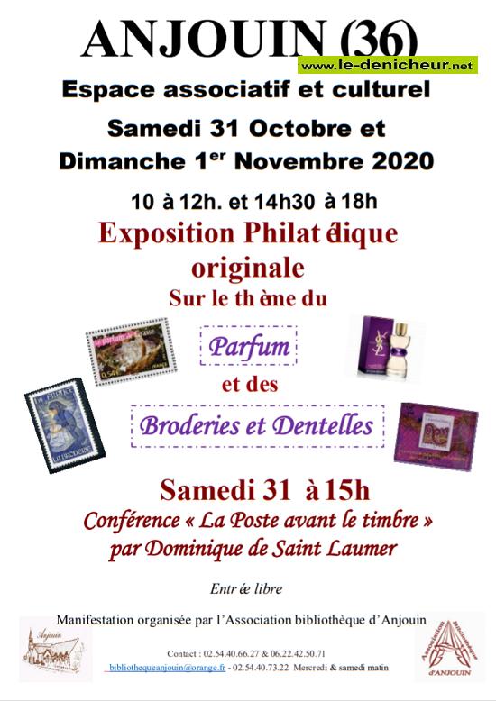 j31- Les 31/10 et 1/11 - ANJOUIN - Exposition philatélique */ 11-01_22