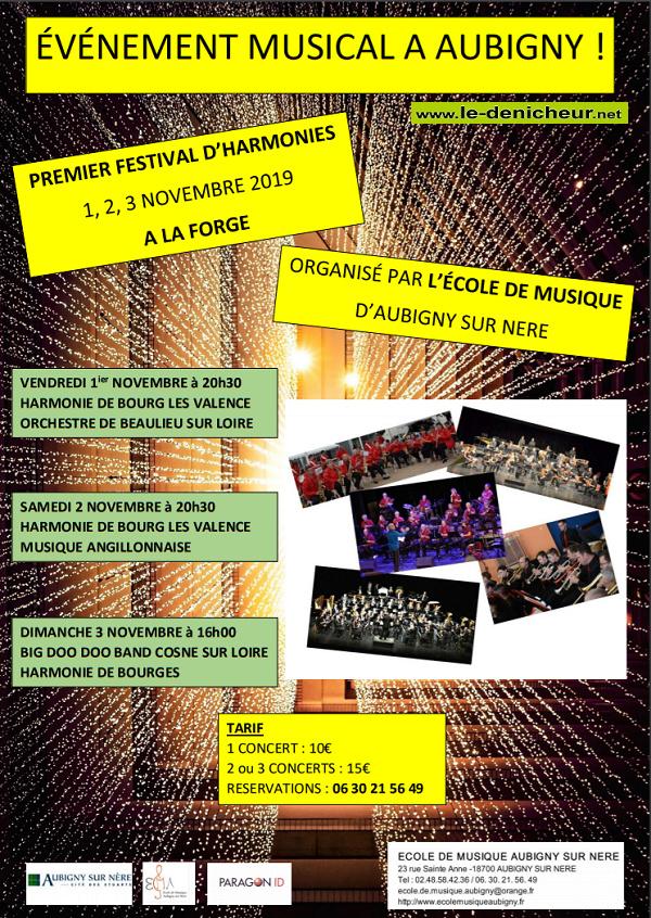 w01 - VEN 01 novembre - AUBIGNY /Nère - Festival d'Harmonies */ 11-01_23