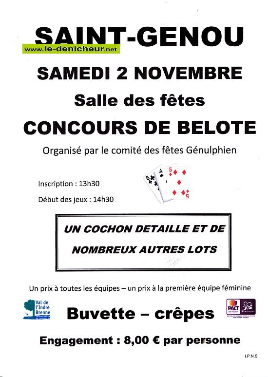 w02 - SAM 02 novembre - ST-GENOU - Concours de belote */ 11-02_16