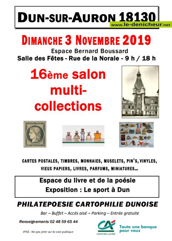 w03 - DIM 03 novembre - DUN /Auron - 16ème Salon multi-collections _* 11-0312