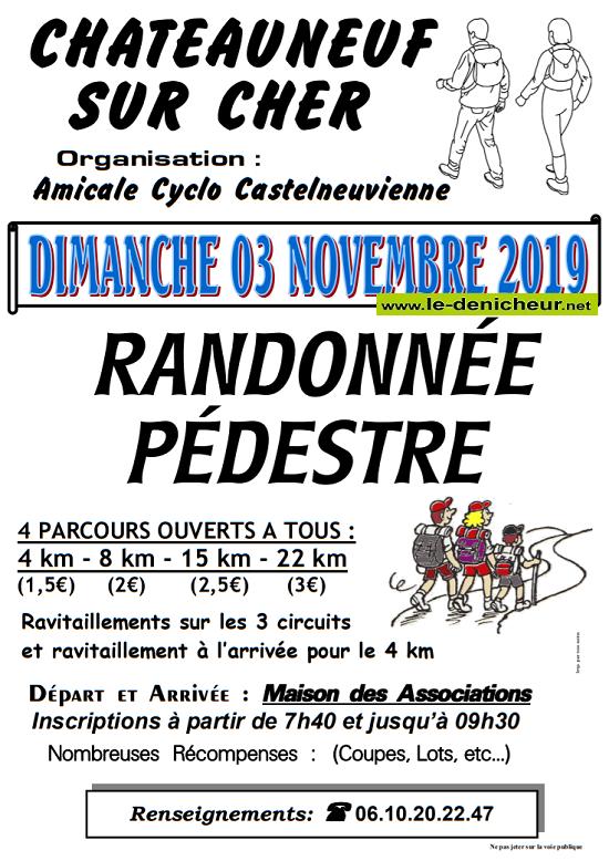 w03 - DIM 03 novembre - CHATEAUNEUF /Cher - Randonnée pédestre */ 11-03_24