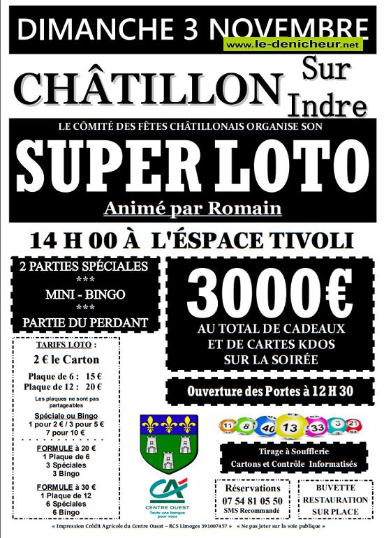 w03 - DIM 03 novembre - CHATILLON /Indre - Loto du comité des fêtes */ 11-03_27