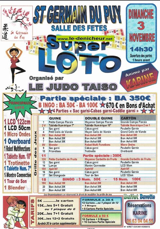 w03 - DIM 03 novembre - ST GERMAIN DU PUY - Loto du Judo */ 11-03_39