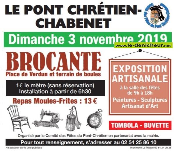 w03 - DIM 03 novembre - LE PONT CHRETIEN CHABENET - Brocante * 11-03_40