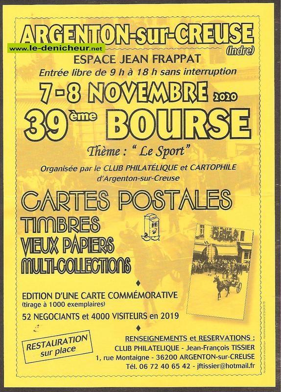 k08 - DIM 08 novembre - ARGENTON /Creuse - Bourse aux cartes postales, timbres...* 11-07_13
