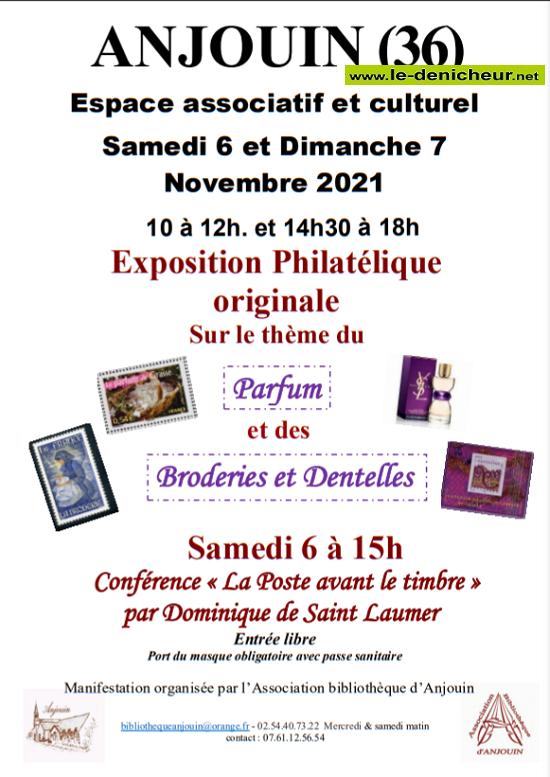 w06 - Sam 06 novembre - ANJOUIN - Exposition philathélique */ 11-07_13
