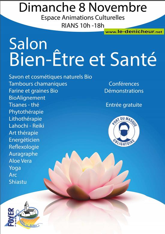 k08 - DIM 08 novembre - RIANS - Salon Bien-Être et Santé * 11-08_15