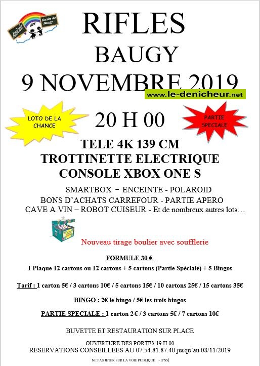 w09 - SAM 09 novembre - BAUGY - Loto de l'Amicale des écoles */ 11-09_21
