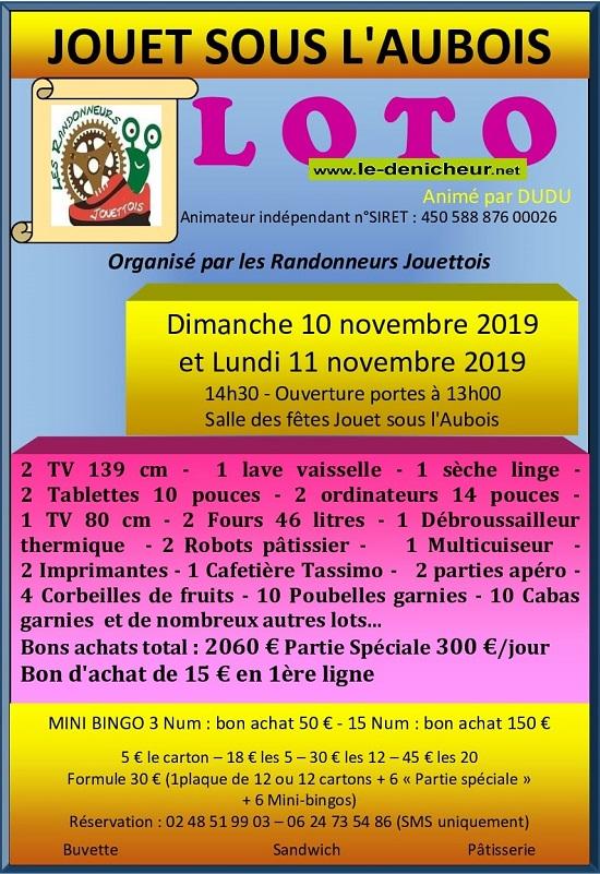 w10 - DIM 10 novembre - JOUET /l'Aubois - Loto des Randonneurs Jouettois */ 11-10_38