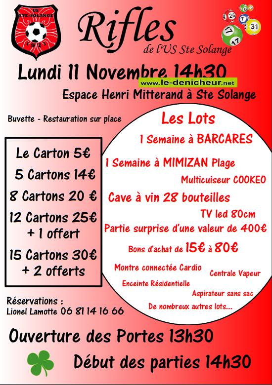 w11 - LUN 11 novembre - STE-SOLANGE  -Rifles du foot .*/ 11-11_16