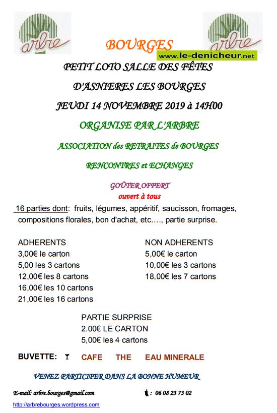 w14 - JEU 14 novembre - BOURGES - Loto de l'ARBRE */ 11-14_12