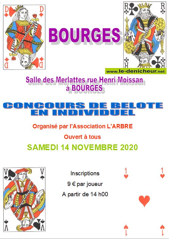 k14 - SAM 14 novembre - BOURGES - Concours de belote de l'ARBRE */ 11-14_13