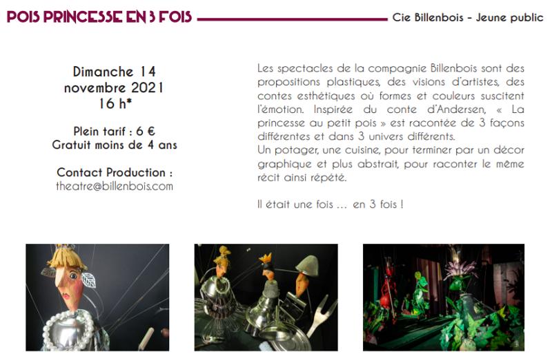 w14 - DIM 14 novembre - LE POINCONNET - Pois Princesse en 3 Fois 'jeune public) 11-14_14