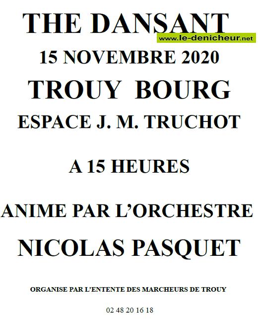 k15 -  DIM 15 novembre - TROUY - Thé dansant avec Nicolas Pasquet */ 11-15_16