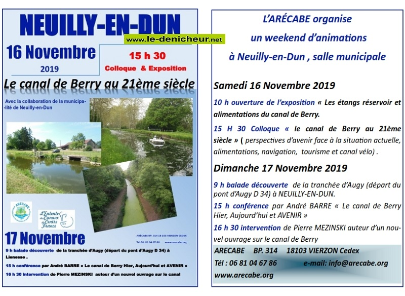 w17 - DIM 17 novembre - NEUILLY en DUN - Week-end d'Animations de l'ARECABE */ 11-1611