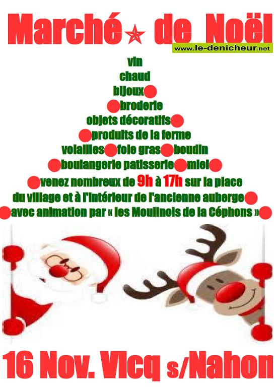 w16 - SAM 16 novembre - VICQ /Nahon - Marché de Noël */ 11-16_12