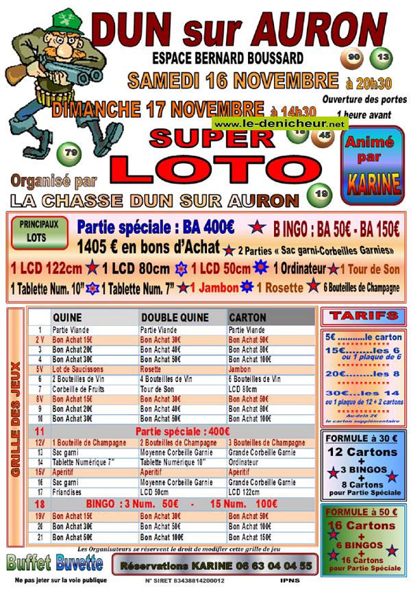 w17 - DIM 17 novembre - DUN /Auron - Loto des chasseurs */ 11-16_15