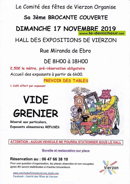 w17 - DIM 17 novembre - VIERZON - Brocante du comité des fêtes */ 11-17_32