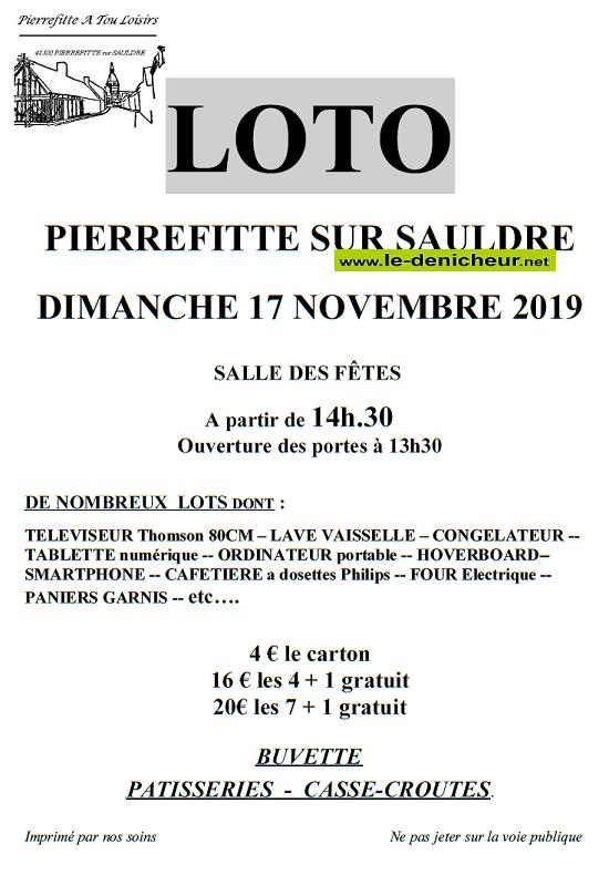 w17 - DIM 17 novembre - PIERREFITTE /Sauldre (41) - Loto de  A Tou Loisirs*/ 11-17_37