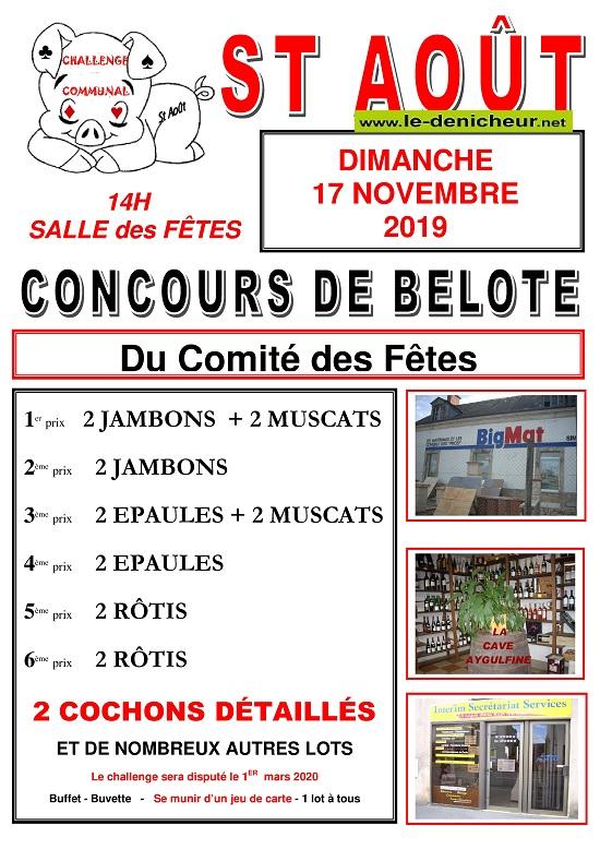 w17 - DIM 17 novembre - ST-AOÛT - Concours de belote */ 11-17_44