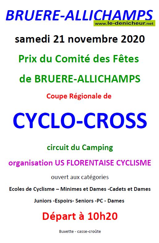 k21 - SAM 21 novembre - BRUERE-ALLICHAMPS - Cyclo-Cross */ 11-21_11