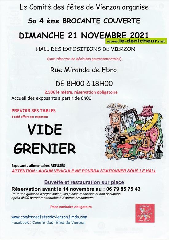 w21 - DIM 21 novembre - VIERZON - Brocante du comité des fêtes */ 11-21_13