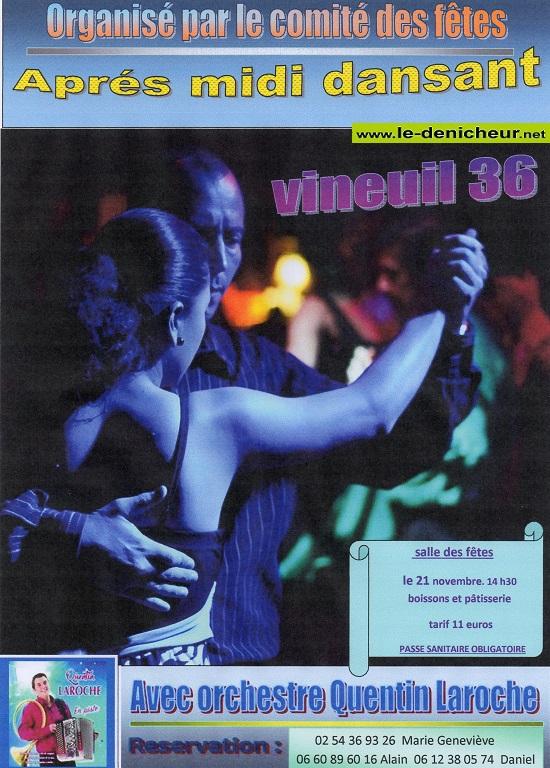 w21 - DIM 21 novembre - VINEUIL - Après-midi dansant avec Quentin Laroche */ 11-21_14
