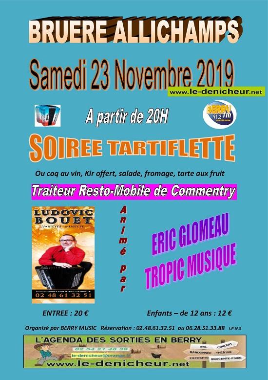 w23 - SAM 23 novembre - BRUERE - Dîner dansant avec L BOUET, E. Glomeau, Tropic Musique*/ 11-23_16
