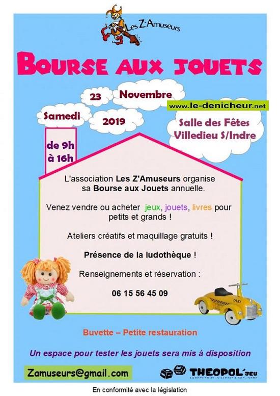 w23 - SAM 23 novembre - VILLEDIEU /Indre - Bourse aux jouets * 11-23_19