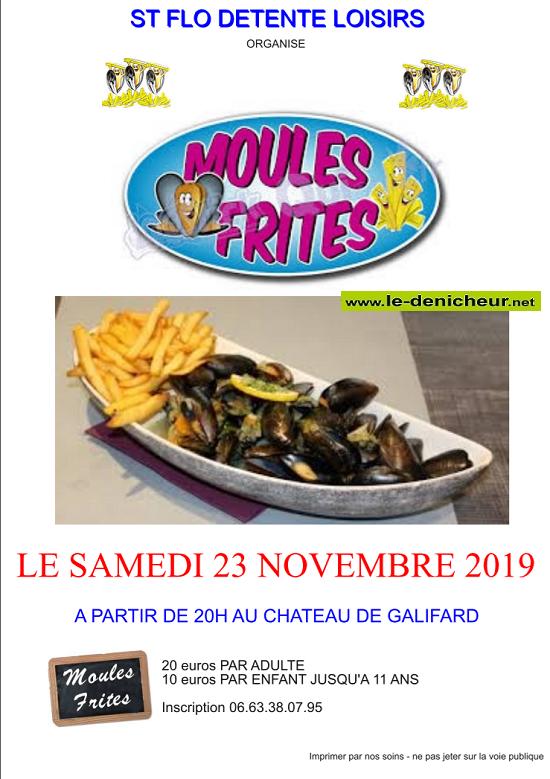 w23 - SAM 23 novembre - VILLENEUVE /Cher - Soirée moules frites */ 11-23_20