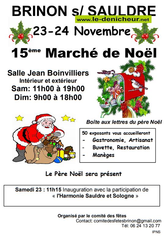 w23 - SAM 23 novembre - BRINON /Sauldre - Marché de Noël du comité des fêtes */ 11-23_22